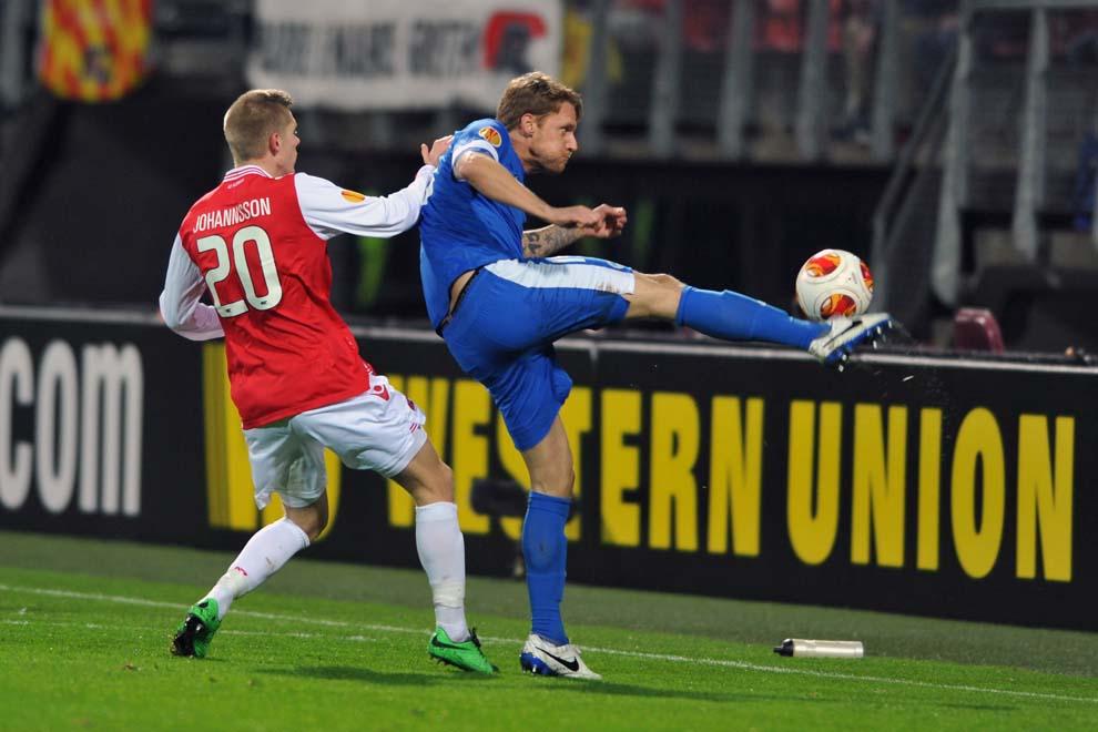 Radoslav Kováč v zápase pro nizozemskému Alkmaaru